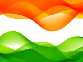 conception de drapeau indien de style vague