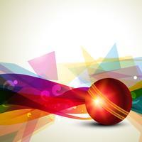 fond abstrait de cricket vecteur