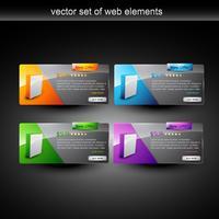 affichage de produits web vecteur