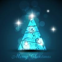 arbre de Noël brillant