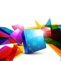 forme colorée abstraite vecteur