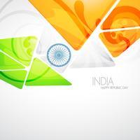 drapeau indien créatif