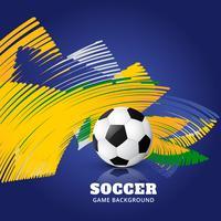 match de football abstrait vecteur