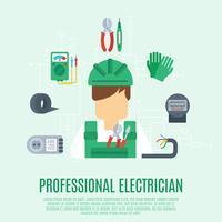 Concept d'électricien professionnel