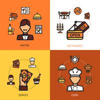 Concept de design de restaurant vecteur