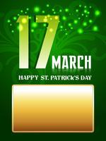 le jour de la Saint-Patrick vecteur