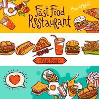 Bannières Fast Food vecteur