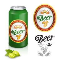 Étiquette de bière de qualité supérieure vecteur