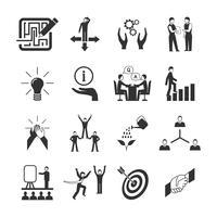 Ensemble d'icônes de mentorat vecteur