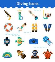 Ensemble d'icônes de plongée