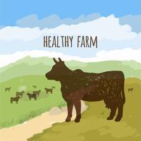 Vache sur le pré