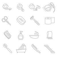 Contour des icônes d'hygiène