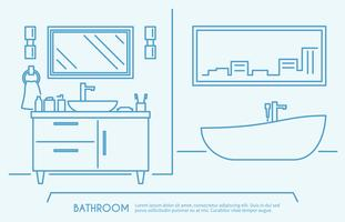 Contour de meubles de salle de bain vecteur
