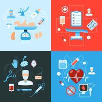 Concept de design des icônes médicales de chirurgie vecteur