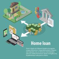 Crédit bancaire isométrique