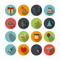 Set d'icônes de célébration vecteur