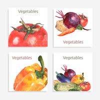 Jeu de cartes de légumes vecteur