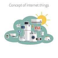 Impression d'affiches de concept de choses Internet vecteur