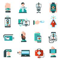 Icônes de médecine numérique