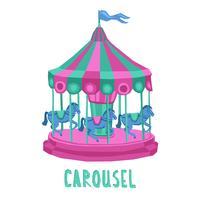 Illustration de carrousel d'enfant