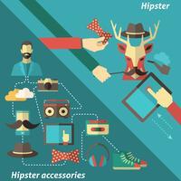 Ensemble de coin hipster vecteur