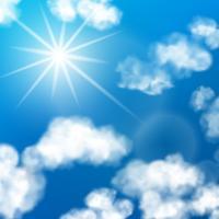 Fond de nuages de ciel vecteur