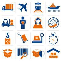 Ensemble d'icônes logistique