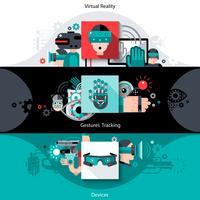 Bannières de réalité virtuelle augmentée