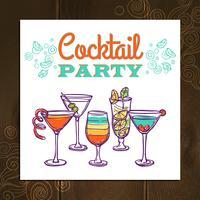 Affiche de cocktail