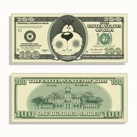 argent pour enfants imprimable, cent sourires vecteur