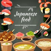 Illustration de nourriture de sushi