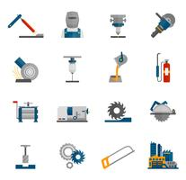 Icône de travail des métaux plat