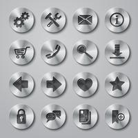 Icônes de sites Web en métal vecteur