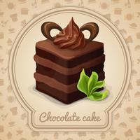 Affiche de gâteau au chocolat vecteur