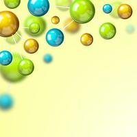 Fond 3d de molécule colorée vecteur
