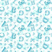 Modèle sans couture croquis alphabet