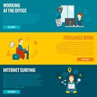 Bannières de travail sur ordinateur