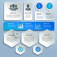 Éléments de design infographie métier papier vecteur