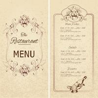 Modèle de menu de restaurant?