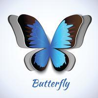 Carte papercut papillon vecteur