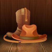 Affiche symbole cowboy
