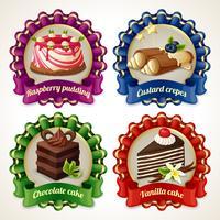 Bannières de ruban de bonbons