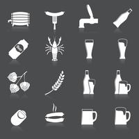 Bière Icons Set vecteur