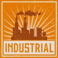 Icône de bâtiment industriel de construction vecteur