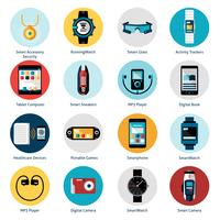Icônes de la technologie portable