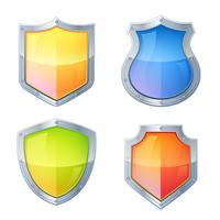 Bouclier Icons Set vecteur