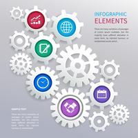 Modèle d'infographie engrenages