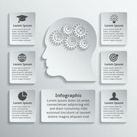 Tête d'engrenage infographique