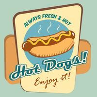 Affiche de hot-dog vecteur