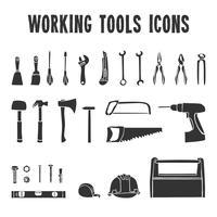 Jeu d'icônes de la boîte à outils de travail